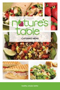 CC Holdings | Nature's Table Catering Menu