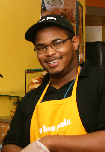 CC Holdings | Au Bon Pain Cafe's friendly server