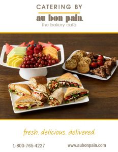 CC Holdings | Au Bon Pain Catering Menu